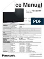 Manual de Serviço TC-L42U30P Panasonic Brasil 2011.