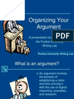 L-3 Guide to Argument Porvided by Dr P H
