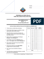 SPM MATHS TRIAL PAPER 2 SPI  2013