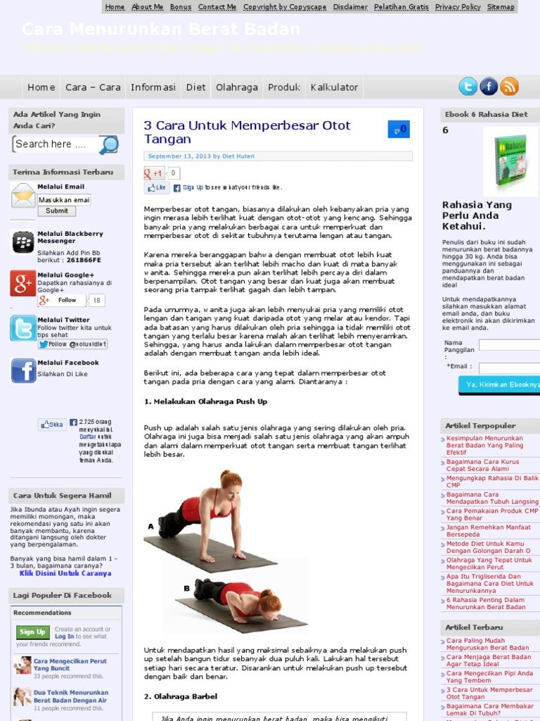 3 Cara Untuk Memperbesar Otot Tangan