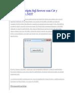Ejecutar Scripts SQL Server Con C