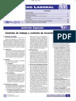 Contrato de Trabajo y Contrato de Locación de Servicios - Informe Especial