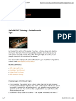 Safe NIGHT Driving _ Guidelines & Tips _ Team-BHP