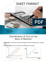 Cost Sheet Format Ppt