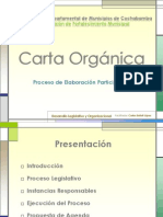 Elaboración de la Carta Orgánica