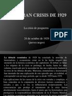 La Gran Crisis de 1929
