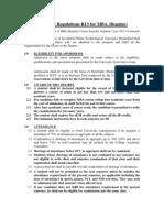 MBA Academic Regulation R13