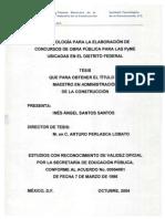 Metodología para la elaboración de concursos de obra pública