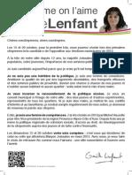 Tract « Aix comme on l'aime avec Gaëlle Lenfant »