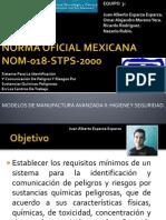 Norma Oficial Mexicana Nom 018 Stps 2000