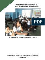 Plan de Actividades Institucional  :Institución Educativa N° 6010275