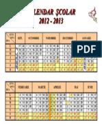 Structura anului scolar 2012-2013