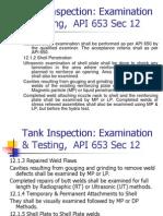 TDI43 Tank Inspection Examination & Testing API 653 Sec 12