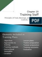 Chapter 20 Training Staff