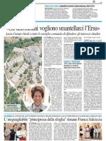 """Ciampi """"gli anconetani vogliono smantellarci l'Ersu"""" - Il Resto del Carlino del 24 settembre 2013"""