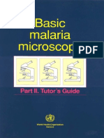 1991 Basic Malaria Microscopy (Part II - Tutor Guide)