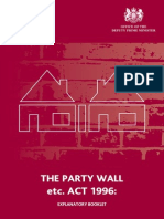 Party Wall Etc. Act 1996 Explanatory Booklet