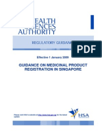Guidance on Medicinal Product Registration in Singapore 2009_Complete With Appendices