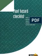 Plant Hazard Checklist