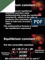 lesson 7 -equilibrium constant