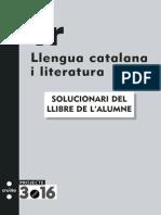 SOLUCIONARI DEL Llibre de l'Alumne Cruilla