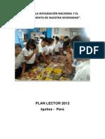 Plan Lector de la  Institución Educativa N° 6010275