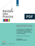 Invitation to Putting Rantsev Into Practice, 16-18 April 2013, Amsterdam, The Netherlands