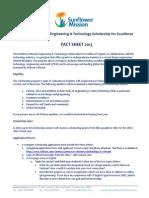 ET Scholarship 2013 Fact Sheet