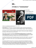 NWO - The New World Order is 'Communism'