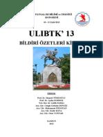 ULIBTK13 Bildiri Ozetleri Kitap