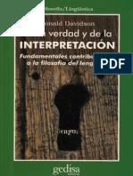 DONALD DAVIDSON DE LE VERDAD Y LA INTERPRETACIÒN