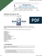 Utilisation d'Oracle en .NET