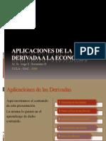 Aplicaciones de la derivada a la economía