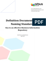 Definition Documents and Naming Standards Key to an Effective Business Information Repository