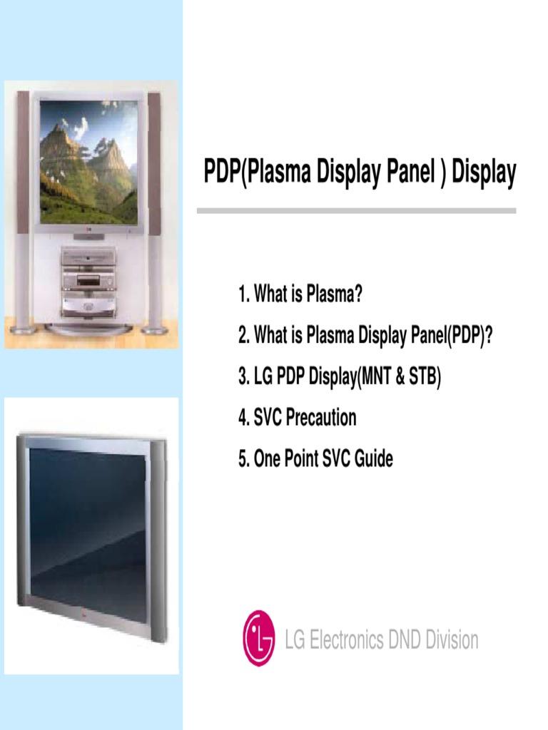 Lg Plasma Tv Full Training Manual | Set Top Box | Cathode