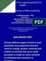 Natural Sources of Micronutrients_Dr. Madhavan Nair