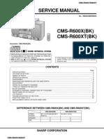 Manual Sharp CMS-R600X