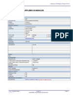 6 Equipment and Suppliers Schedules 3