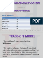 Williamson Trade-Off Model