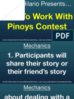 How To Work With Pinoys Contest