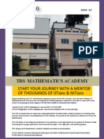 TRS Mathematics Academy - 2014-2015