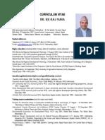 Dr E.R. Ojha's Updated CV - 25 July 2013