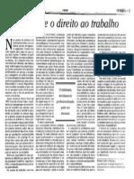 Deficientes e o Direito Ao Trabalho- 03.09.1999- O Globo