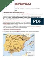 Etapas de la conquista de la Península Ibérica por Roma