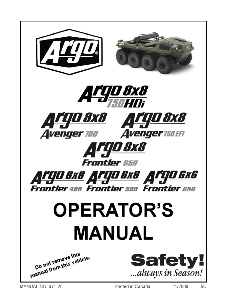 Argo Operators Manual (2010 Models)v1 | Transmission (Mechanics) | Vehicles