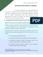 PATENT LAW & PATENTING PROCEDURES IN TANZANIA.doc
