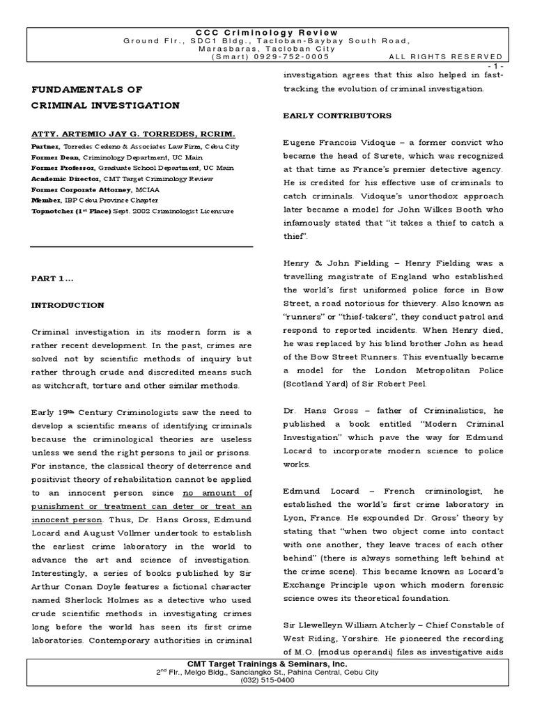 Fundamentals of Criminal Investigation.pdf | Miranda Warning | Forensic  Science