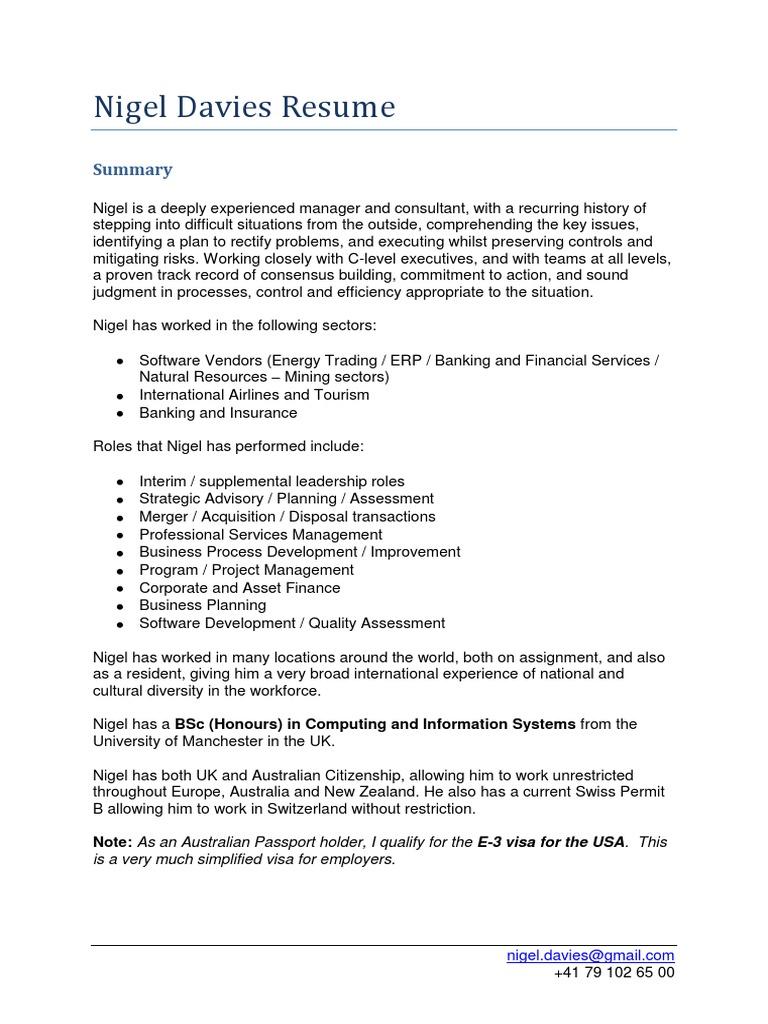 Contemporary Interim Management Resume Uk Pattern - Administrative ...