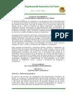 Estatuto Del Departamento Amazonico de Pando Final