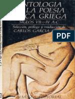 Antología De La Poesía Lírica Griega-Carlos García Gual